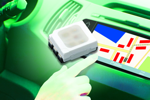 Tricolour LED targets automotive, consumer applications