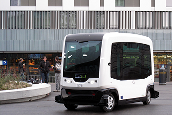Driverless buses on trial in the Netherlands