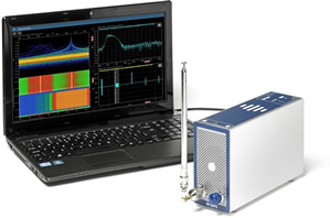 Portable recorder analyses RF spectrum data to 8GHz/18GHz