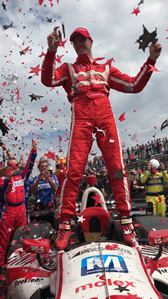 Mouser Indy car triumphs in season opener