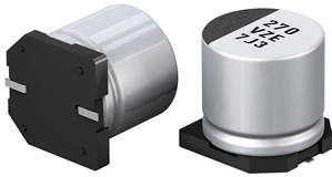 Hybrid capacitors feature low ESR, high ripple current
