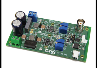 Full-bridge evaluation board optimised for Class D Amplifiers