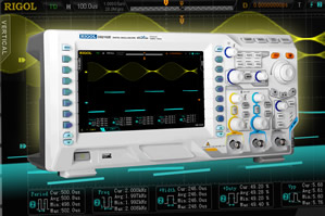 Two-channel oscilloscope boasts 8in colour display