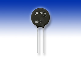 NTC inrush current limiters handle currents up to 30A