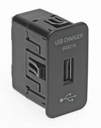 USB charger suits most transportation applications