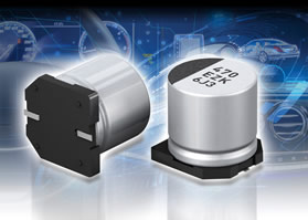 Hybrid capacitors combine electrolytic, polymer benefits