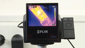 Thermal imaging camera accelerates board inspection