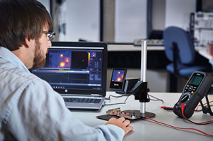 Thermal camera focuses on analysing and testing PCBs