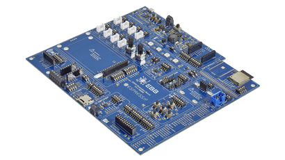 Evaluation board can switch in and out of prototype setup