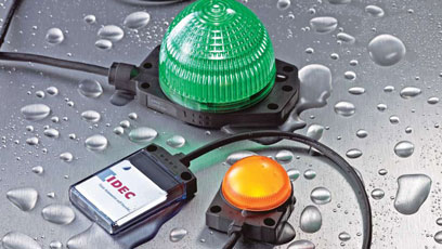 LED indicators are directly mountable on equipment