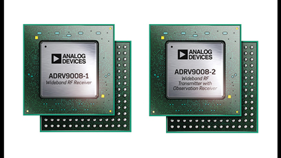 Wideband RF receiver and transmitter boasts DSP functions