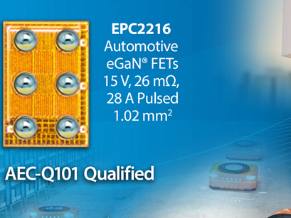 eGan FET wins AEC Q101 qualification