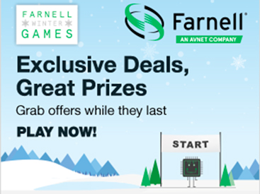 Prizes and offers beckon in Farnell's Winter Games