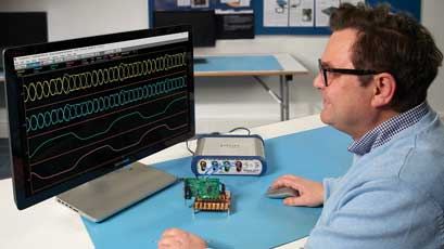 16GHz real-time oscilloscope cuts cost of time-domain sampling