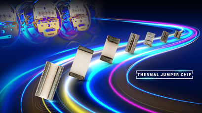 Thermal jumper chips enhance temperature rise management