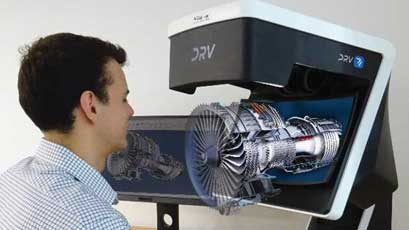 3D-view microscope dispenses with screens and goggles