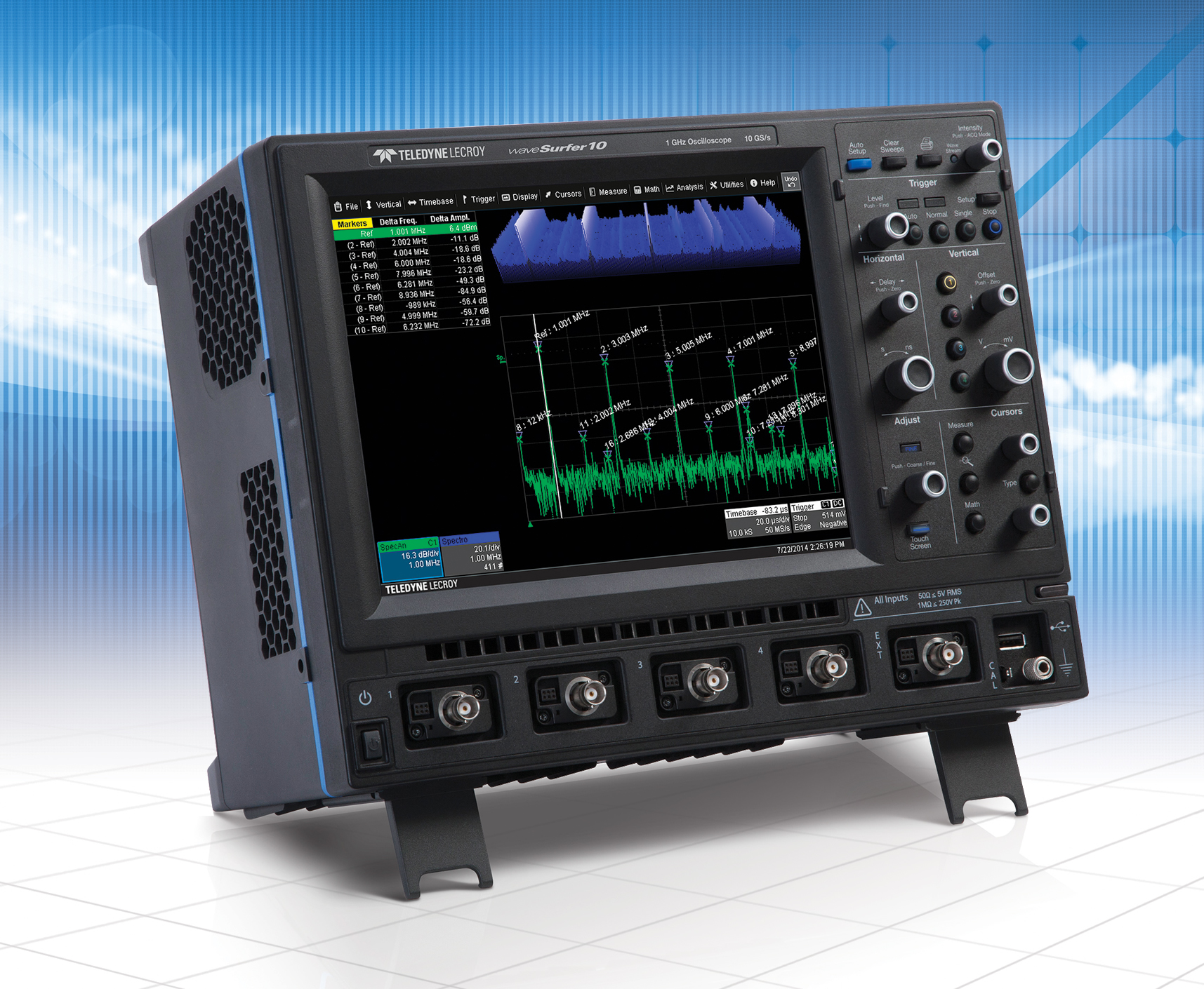 Digital oscilloscope features MAUI touch screen