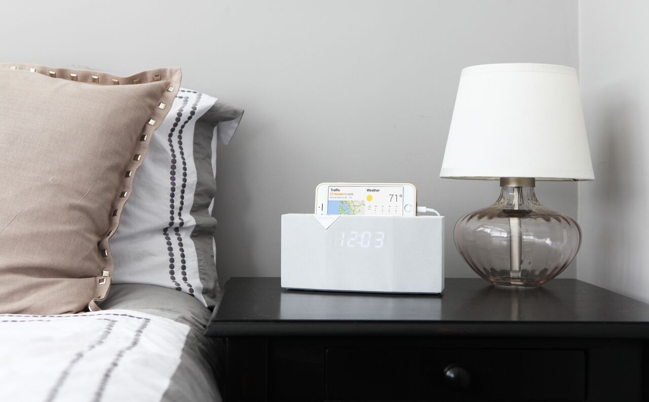 Smart alarm clock will even call a taxi for you