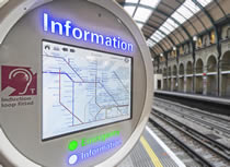 Custom HMI control panel selected for rail information point