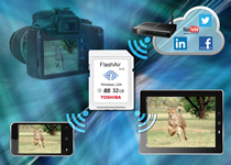 32GB FlashAir cards simplify wireless photo sharing