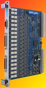 Vme test module measures 1 ohm to 3 megohms for 1000 ohm platinum rtd table