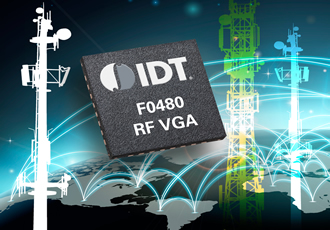 IDT Announces New Internally Matched Broadband RF VGA with Ultra-High Linearity