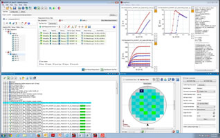 Software aimed at wafer-level component characterisation