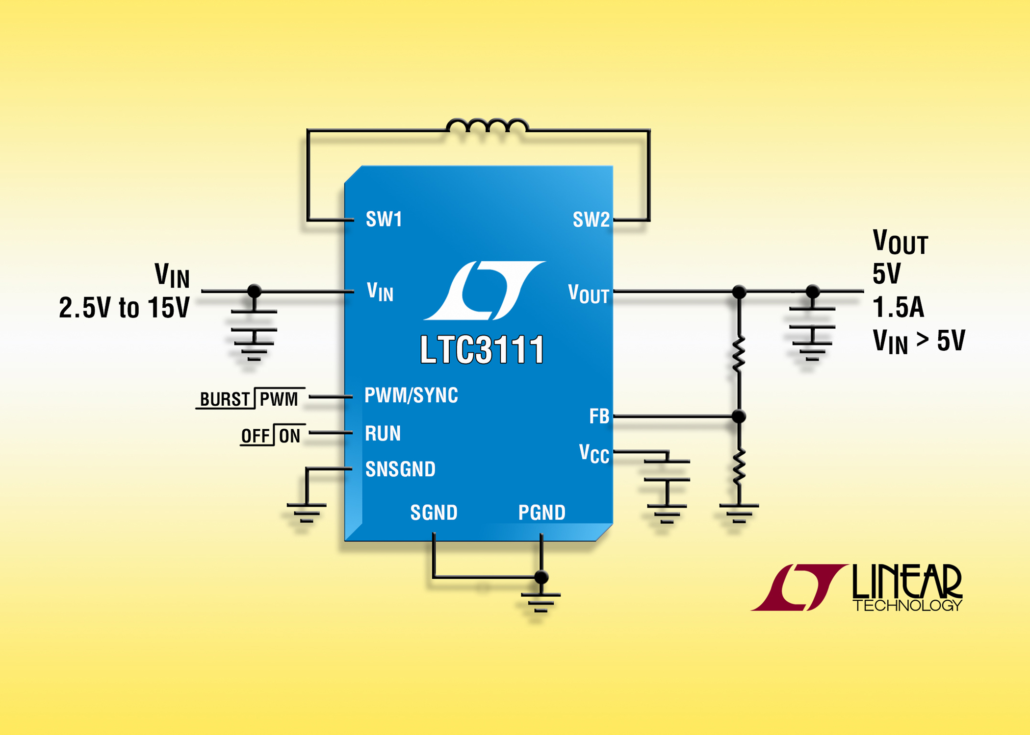 Converter Incorporates Low Noise Buck Boost Topology Of A With External Mosfet For Short Circuit Protection