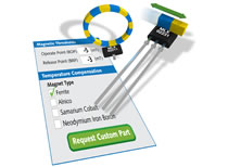 Custom Hall effect sensors at off-the-shelf prices