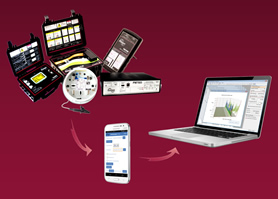 App eases data download from power analyser to tablet