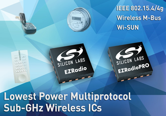 Silicon Labs Expands Sub-Ghz Wireless Portfolio To Support 802.15.4/4g Connectivity