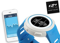 Smart sports watch uses Giant Gecko MCU