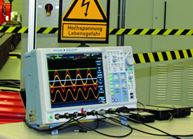 Mixed-signal scope plays key role in inverter tests