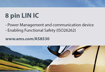 LIN slave companion IC is first to support ISO26262
