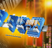 Rail-mounting single-pole and two-pole relay interface modules