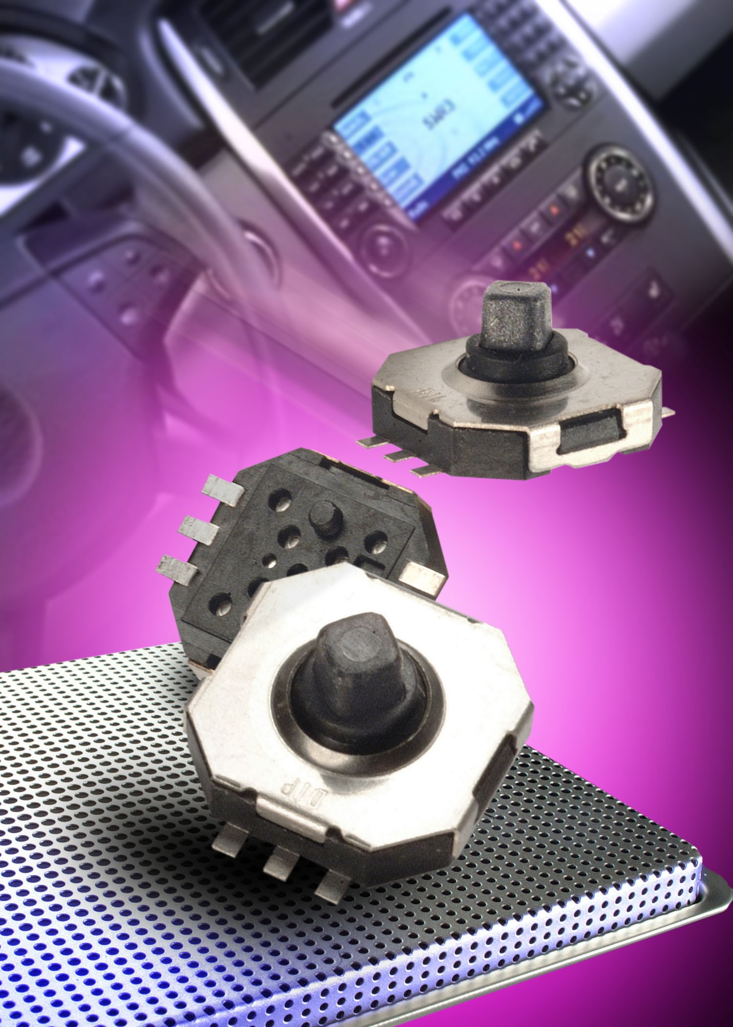RoHS compliant mini-joystick has a total height of just 4.5mm