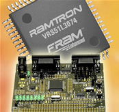 Evaluation and development system supports Ramtron's FRAM-enhanced 8051 MCU