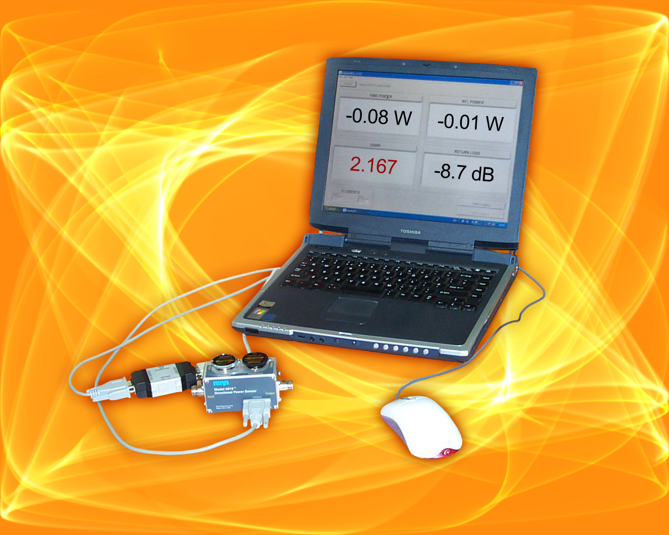 S/W allows PC's to  display power measurements