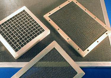 RoHS compliant EMC ventilation panels