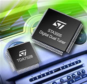 Digital AM/FM radio receiver chipset for use in automotive applications