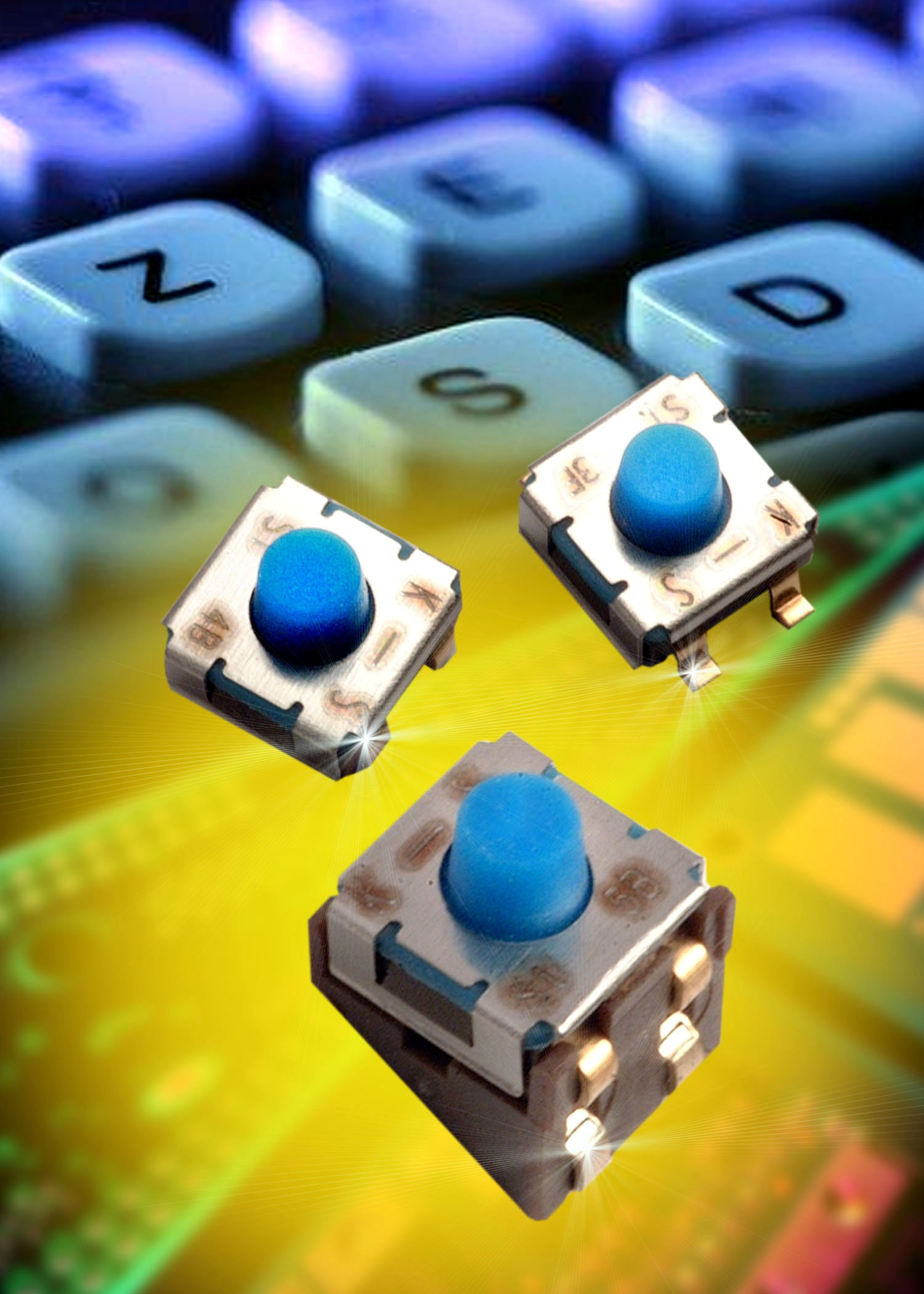 RoHS compliant Micro-miniature SMT Tact Switches