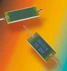 Low-profile resistors available in six standard sizes