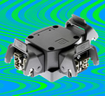 Hybrid power T connector aids decentralised motor control
