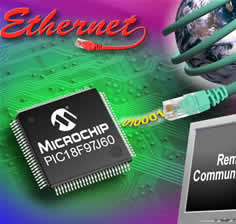 8-bit Microcontrollers With Integrated Ethernet Peripheral Optimised for Embedded Applications