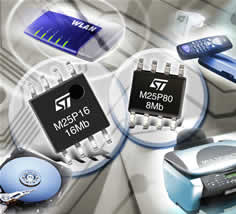 8- and 16-Mbit Code-Storage Serial Flash Memory in SO8N Package is an ST Microelectronics first