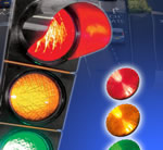 LED traffic light bulbs save costs in many areas and reduce maintenance