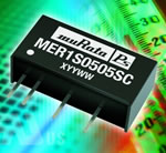 1W single output MER1 DC/DC converter series combines excellent regulation and efficiency performance in an industry-standard package