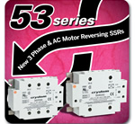 Crydom - 36 New Models to the 53 Series of Panel Mounted 3Phase AC Output Solid State Contactor Relays
