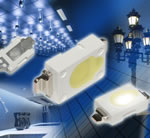 Toshiba Electronics - Miniature high power white LEDs with typical luminous flux up to 100 lumens