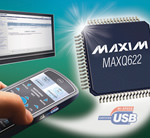 MAXQ622: microcontroller with integrated USB transceiver intelligently switches between main and USB supplies